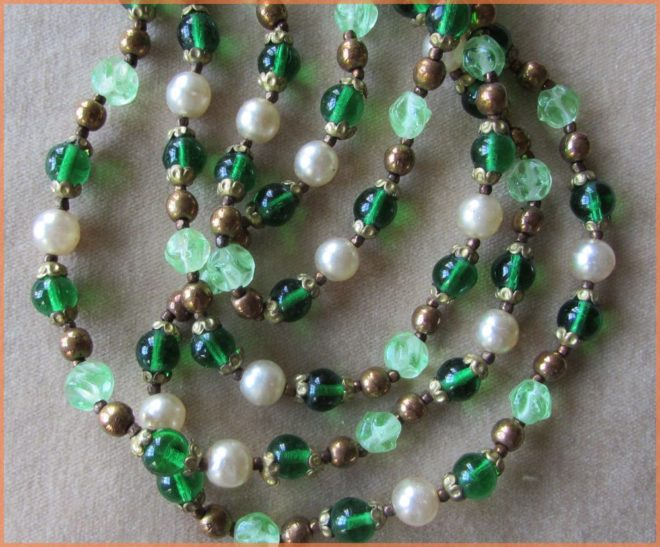 Green and Gold Necklace
