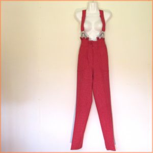 Lee Bender Red and Silver Stripe Trousers
