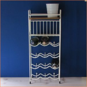 Wine Bottle Rack with Shelf