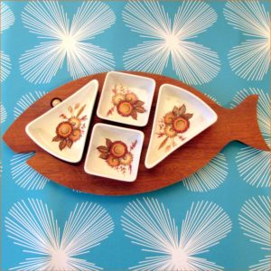 Wooden Fish Snack Tray