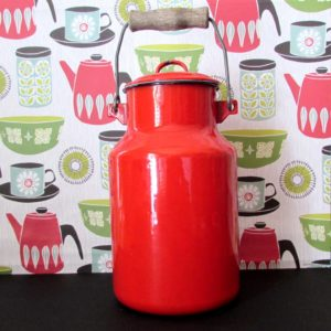 Red milkcan